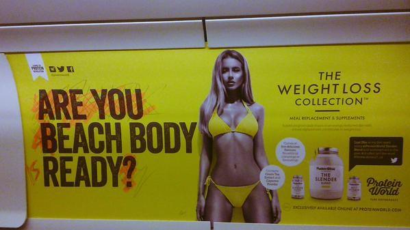 advert beach body