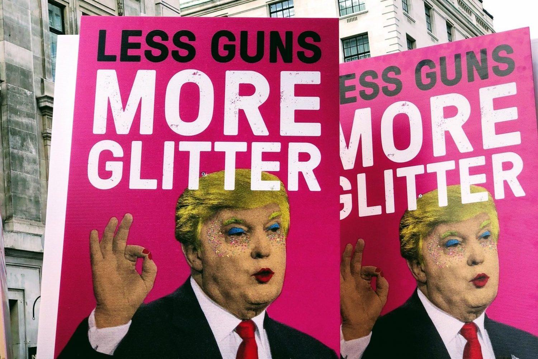 Trump Signs - Less Guns