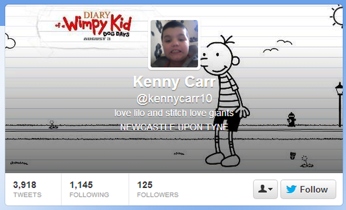 Diary of a Wimpy Kid Twitter page