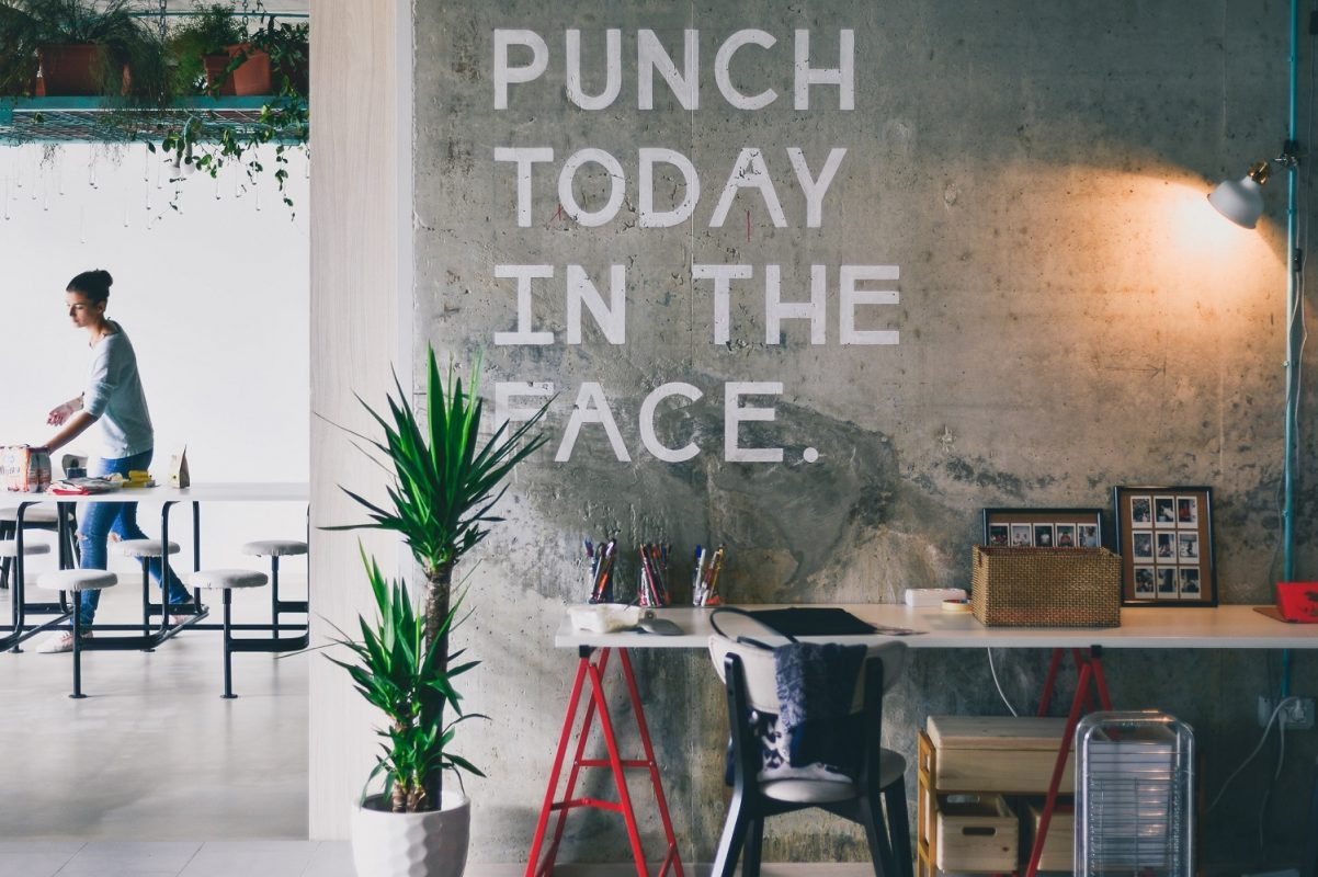 wall slogan